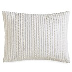 DKNY City Pleat Oblong Throw Pillow in White