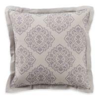 Surya Anniston European Pillow Sham in Light Grey