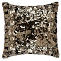 Michael Amini® Circle Sequin Square Throw Pillow in Pewter