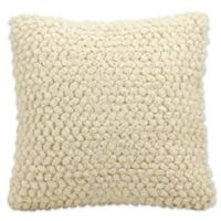 Mina Victory Lifestyles Thin Loop Square Throw Pillow in Ivory