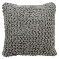 Mina Victory Lifestyles Thin Loop Square Throw Pillow in Light Grey