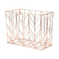Copper Wire Hanging File Basket