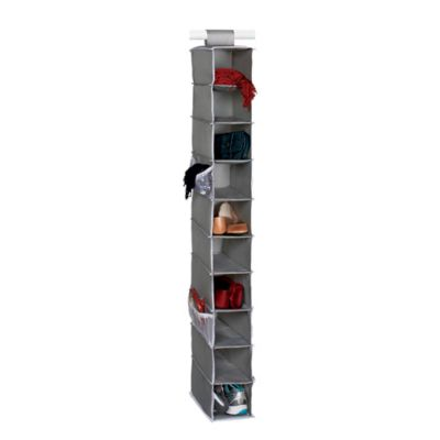 Studio 3B™ 10 Shelf Hanging Shoe Organizer In Grey