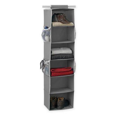 Studio 3B™ 6 Shelf Hanging Sweater Organizer In Grey