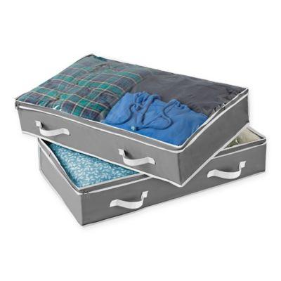 studio 3b underbed storage bag in grey set of 2