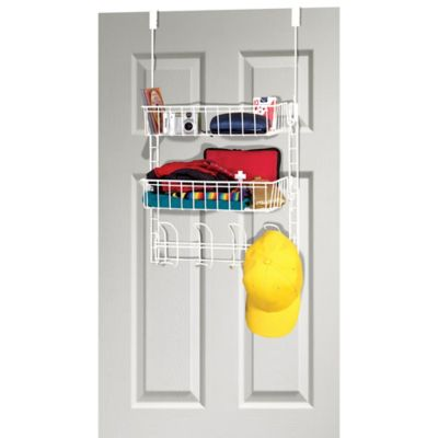 Grayline Over The Closet Door Steel Organizer In White
