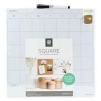 Square Dry Erase Calendar in White