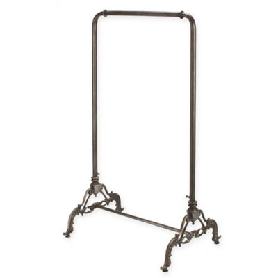 Decorative Metal Style Garment Floor Rack In