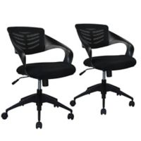 Manhattan Comfort Grove Chairs in Black (Set of 2)