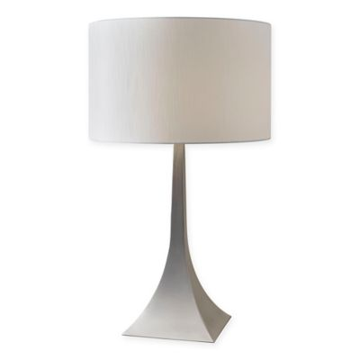Adesso luxor tall table lamp in brushed steel