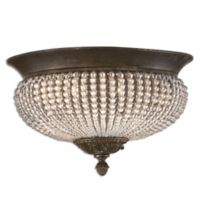 Uttermost Cristal de Lisbon 2-Light Flush Mount Ceiling Fixture in Gold