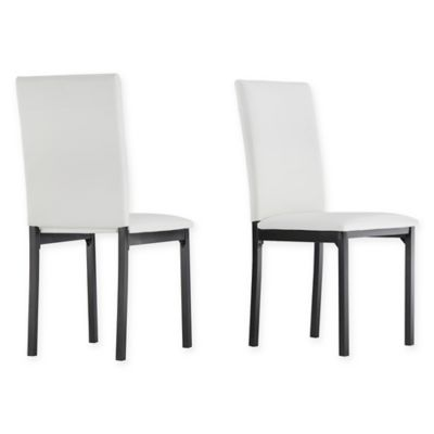 Verona Home Colby Metal Side Chairs In White Faux Leather (Set Of 2)