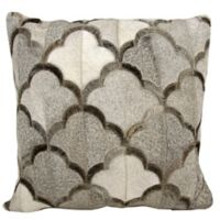 Mini Victory Natural Hide Cloud 20-Inch Throw Pillow in Grey