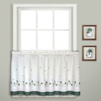 Gingham 24-Inch Window Curtain Tier Pair in Green