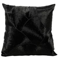 Mina Victory LUMINESCENCE Fan Design Square Throw Pillow in Black