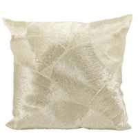 Mina Victory LUMINESCENCE Fan Design Square Throw Pillow in Silver
