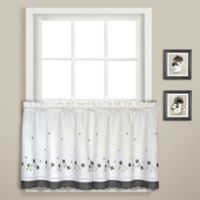 Gingham 36-Inch Window Curtain Tier Pair in Black