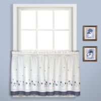 Gingham 24-Inch Window Curtain Tier Pair in Blue