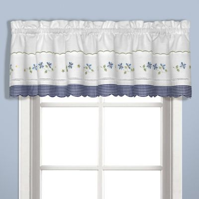 Gingham Valance In Blue
