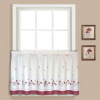 Gingham 24-Inch Window Curtain Tier Pair in Red