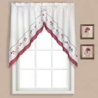 Gingham Swag Valance in Red