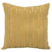Michael Amini™ Beaded Stripes Square Throw Pillow in Gold