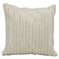Michael Amini™ Beaded Stripes Square Throw Pillow in Silver