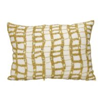 Michael Amini® Ladders Accent Throw Pillow in Ivory/Gold