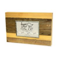 Sweet Bird & Co. 4-Inch x 6-Inch Reclaimed Wooden Photo Frame in Vintage Natural