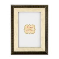 Eccolo 5-Inch x 7-Inch Houndstooth Black Bordered Frame