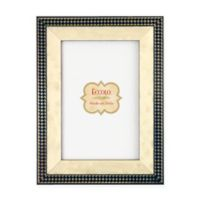 Eccolo® 4-Inch x 6-Inch Gold Onlay Frame in Navy Houndstooth