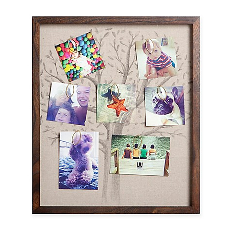 Umbra 10-Photo Linen Family Tree Collage Frame in Walnut - Bed Bath ...