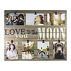 Piney 7-Photo  Love You to The Moon  Wooden Collage Plank