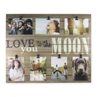 """Piney 7-Photo """"Love You to The Moon"""" Wooden Collage Plank"""