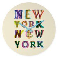 DENY Designs Fimbis New York New York Round Wall Clock