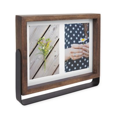 umbra axis 2 photo 4 inch x 6 inch wood basic frame in