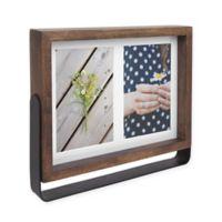 Umbra Axis 2-Photo 4-Inch x 6-Inch Wood Basic Frame in Aged Walnut