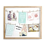 Umbra Clothesline 8-Photo 4-Inch x 6-Inch Shadow Box Collage Wall Frame in Natural