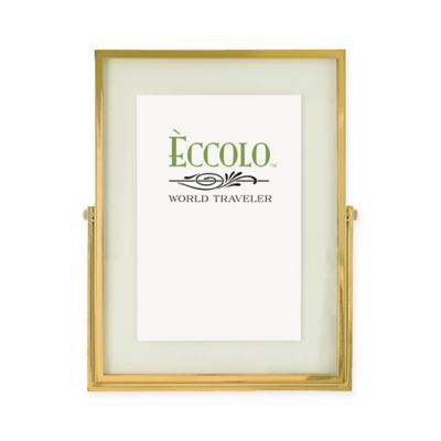 eccolo 4 inch x 6 inch gold floating glass frame