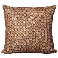 Mina Victory Button Collection Button Square Throw Pillow in Brown