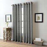 Bailey 84-Inch Grommet Top Window Curtain Panel in Grey