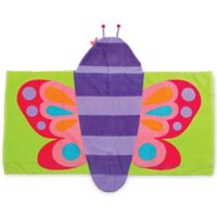 Stephen Joseph Butterfly Hooded Towel in Purple
