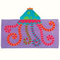Stephen Joseph Jellyfish Hooded Towel in Purple