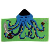 Stephen Joseph Octopus Pirate Hooded Towel in Blue