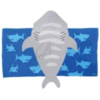 Stephen Joseph Shark Hooded Towel in Grey