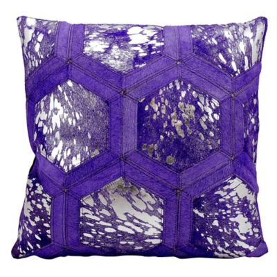 Buy Silver/Purple Throw Pillows from Bed Bath & Beyond