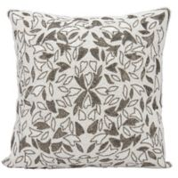 Mina Victory Beaded Vines Throw Pillow in Pewter