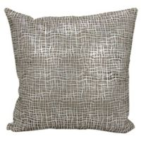 Mina Victory Couture Sitara Laser-Cut Throw Pillow in White/Silver