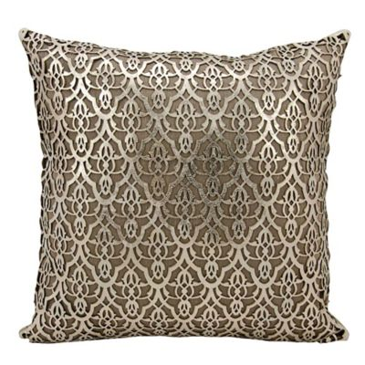mina victory moorish leaves rectangular throw pillow in gold - Gold Decorative Pillows