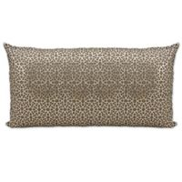 Mina Victory Couture Arabic Rectangular Throw Pillow in Gold